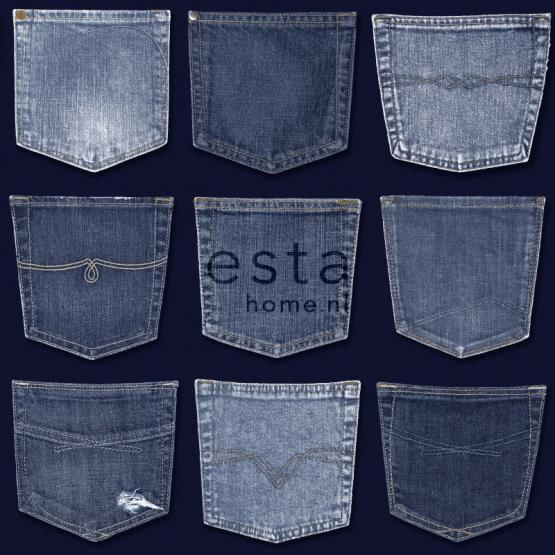 Tapeta ścienna Denim&Co. JEANS POCKET137741